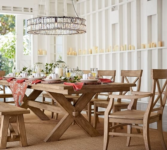 Pottery Barn Toscana Extending Dining Table – Art Of Living Ministries Regarding Toscana Dining Tables (Image 11 of 25)