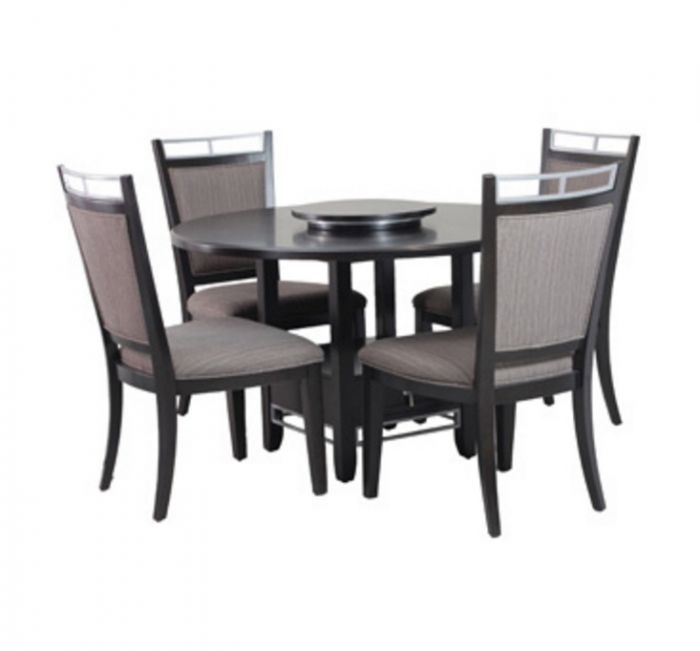 Powell Caden 5 Piece Dining Set regarding Caden 5 Piece Round Dining Sets With Upholstered Side Chairs