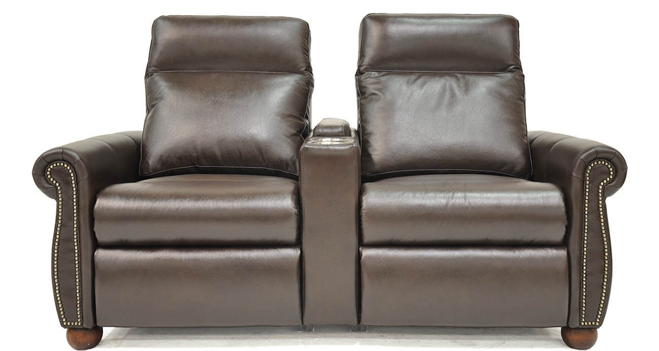 Power Home Theater • Texas Leather Interiors Furniture And Accessories Pertaining To Travis Dk Grey Leather 6 Piece Power Reclining Sectionals With Power Headrest & Usb (Image 14 of 25)