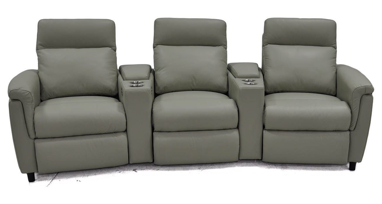 Power Home Theater • Texas Leather Interiors Furniture And Accessories With Regard To Travis Dk Grey Leather 6 Piece Power Reclining Sectionals With Power Headrest & Usb (Image 15 of 25)