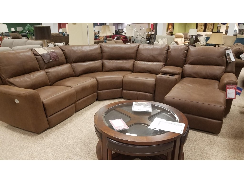 Power Sectional – Tidex Within Denali Charcoal Grey 6 Piece Reclining Sectionals With 2 Power Headrests (Image 22 of 25)