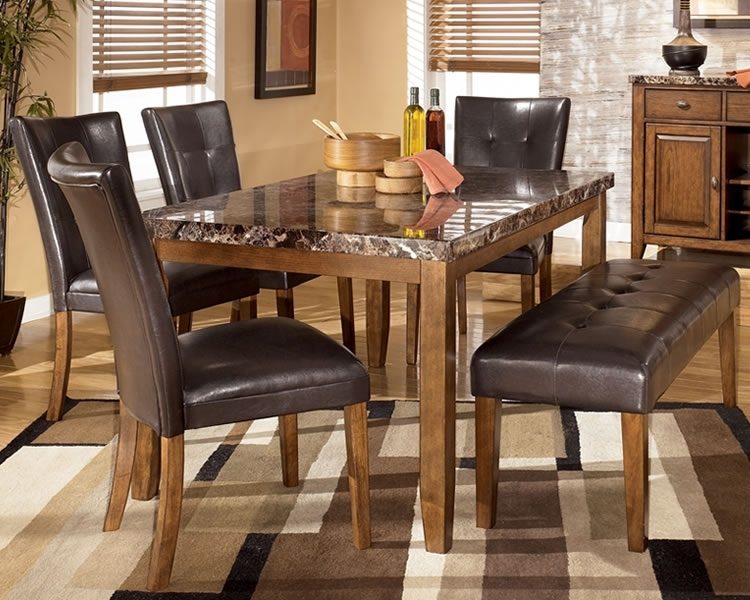 Practical Bench Dining Room Sets For Large Families | Dining Chairs Pertaining To Small Dining Tables And Bench Sets (View 18 of 25)