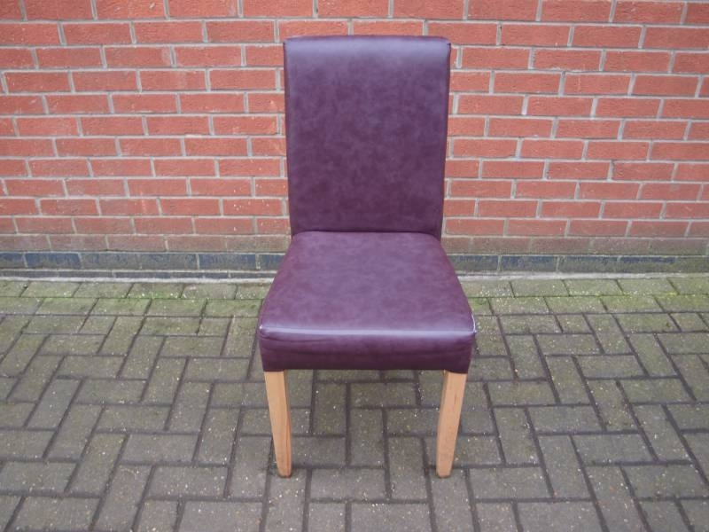 Prdc4 Dining Chair With Purple Faux Leather Upholstery Inside Purple Faux Leather Dining Chairs (Image 15 of 25)