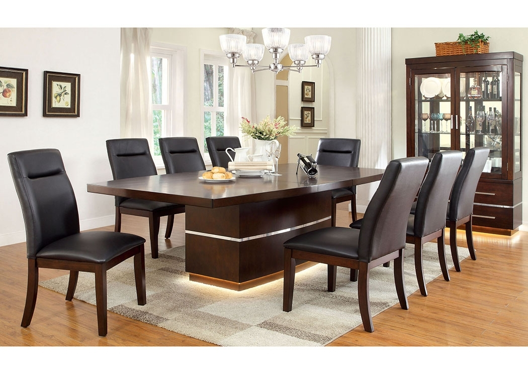 Price's Home Furnishings Lawrence Dark Cherry Extension Dining Table In Craftsman 7 Piece Rectangle Extension Dining Sets With Side Chairs (Image 21 of 25)