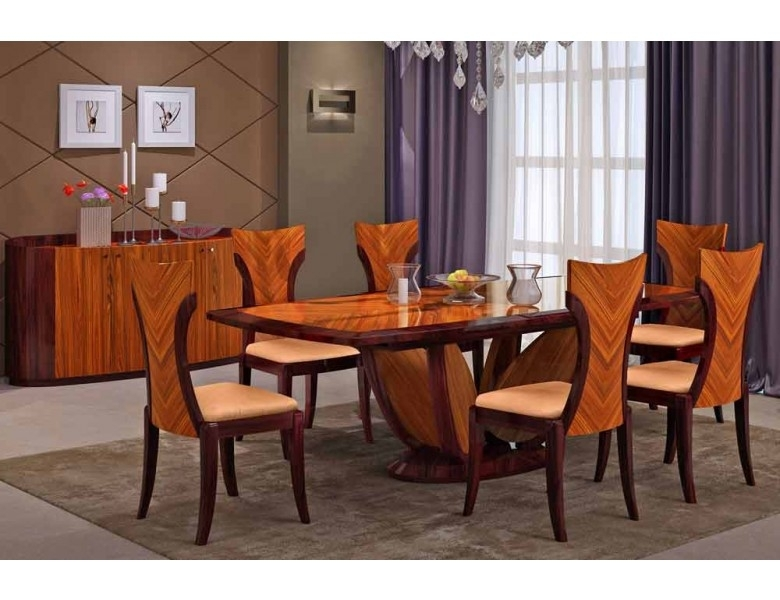 Primrose Italian Modern Dining Table Set In Modern Dining Table And Chairs (View 11 of 25)