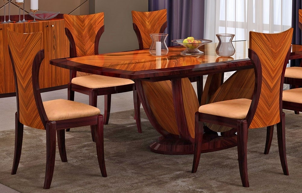 Primrose Italian Modern Dining Table Set With Regard To Modern Dining Tables (Image 24 of 25)
