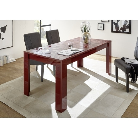 Prisma Decorative Red Gloss Dining Table – Dining Tables (3462 Pertaining To Red Gloss Dining Tables (Image 12 of 25)