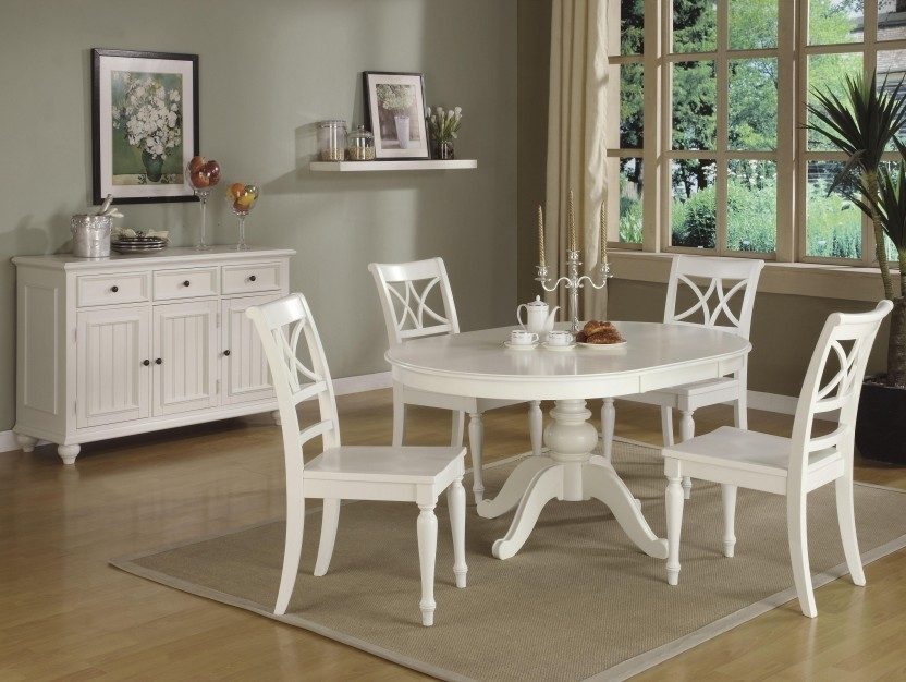 Pros And Cons Of White Kitchen Cabinets – Kitchen Ideas Intended For White Circular Dining Tables (Image 19 of 25)