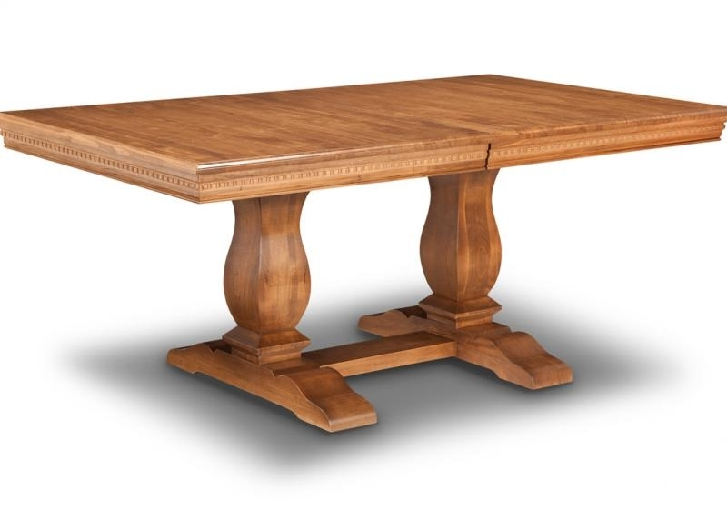 Provence Double Pedestal Dining Table | Handstone Regarding Provence Dining Tables (Image 15 of 25)