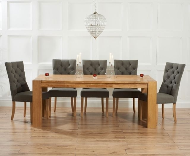 Provence Oak Furniture Extra Large Dining Table And 10 Grey Chairs Within Dining Table And 10 Chairs (Image 22 of 25)