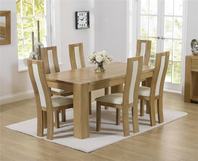 Provence Solid Chunky Oak Small Dining Table And 6 Havana Chairs | Ebay In Havana Dining Tables (Image 24 of 25)