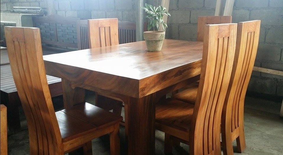 Pure Molave Wood 6 Seater Dining Set – Buy Wooden Dining Set Product Inside Wooden Dining Sets (Image 17 of 25)