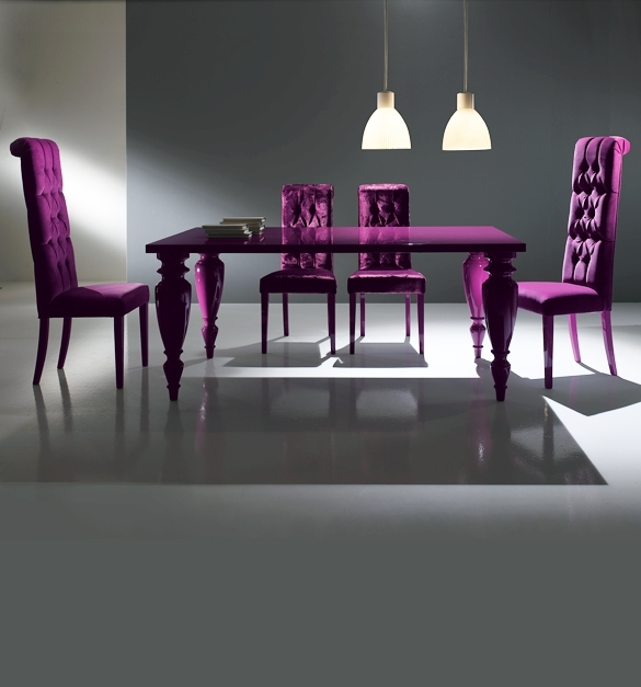 Purple Dining Room Sets | Dining Chairs Design Ideas & Dining Room Pertaining To Dining Tables And Purple Chairs (Image 15 of 25)