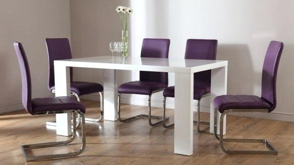 Purple Kitchen Table And Chairs Dining Sets With Chairs Ideal Glass With Regard To Dining Tables And Purple Chairs (Image 16 of 25)