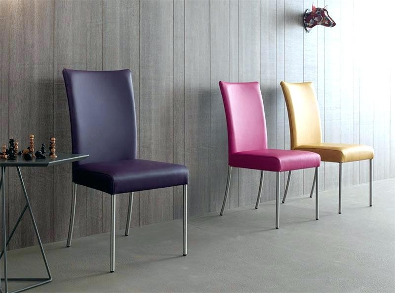 Purple Leather Dining Chairs Purple Dining Chairs Purple Leather In Purple Faux Leather Dining Chairs (View 3 of 25)