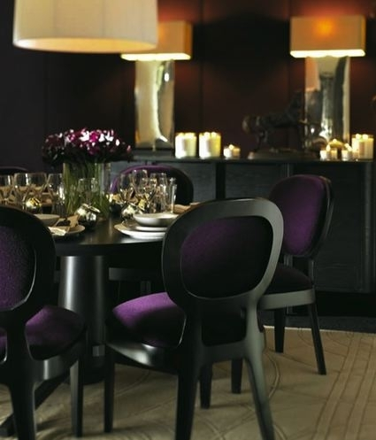 Purple Velvet Dining Chairs – Contemporary – Dining Room Intended For Dining Tables And Purple Chairs (Image 17 of 25)