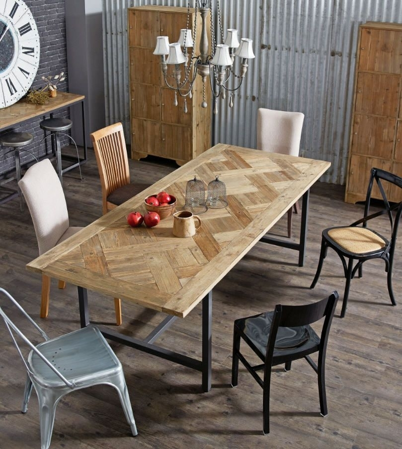 Put It In Neutral | Dining | Pinterest | Dining, Table And Dining Table With Regard To Parquet Dining Tables (Image 17 of 25)