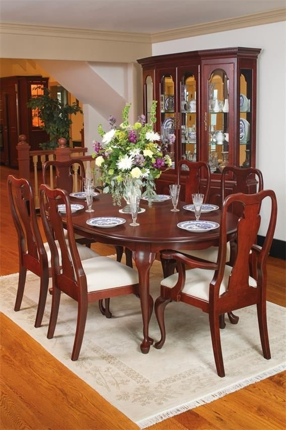 Queen Anne Cherry Wood Dining Table In 2018 | Antique Alley Research Throughout Laurent 7 Piece Rectangle Dining Sets With Wood And Host Chairs (Image 18 of 25)