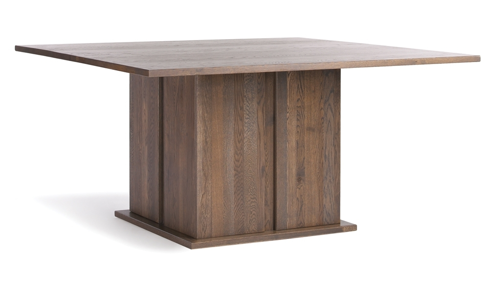 Quercus Solid Oak 5-5 Square Dining Table - Con-Tempo Furniture within Square Oak Dining Tables