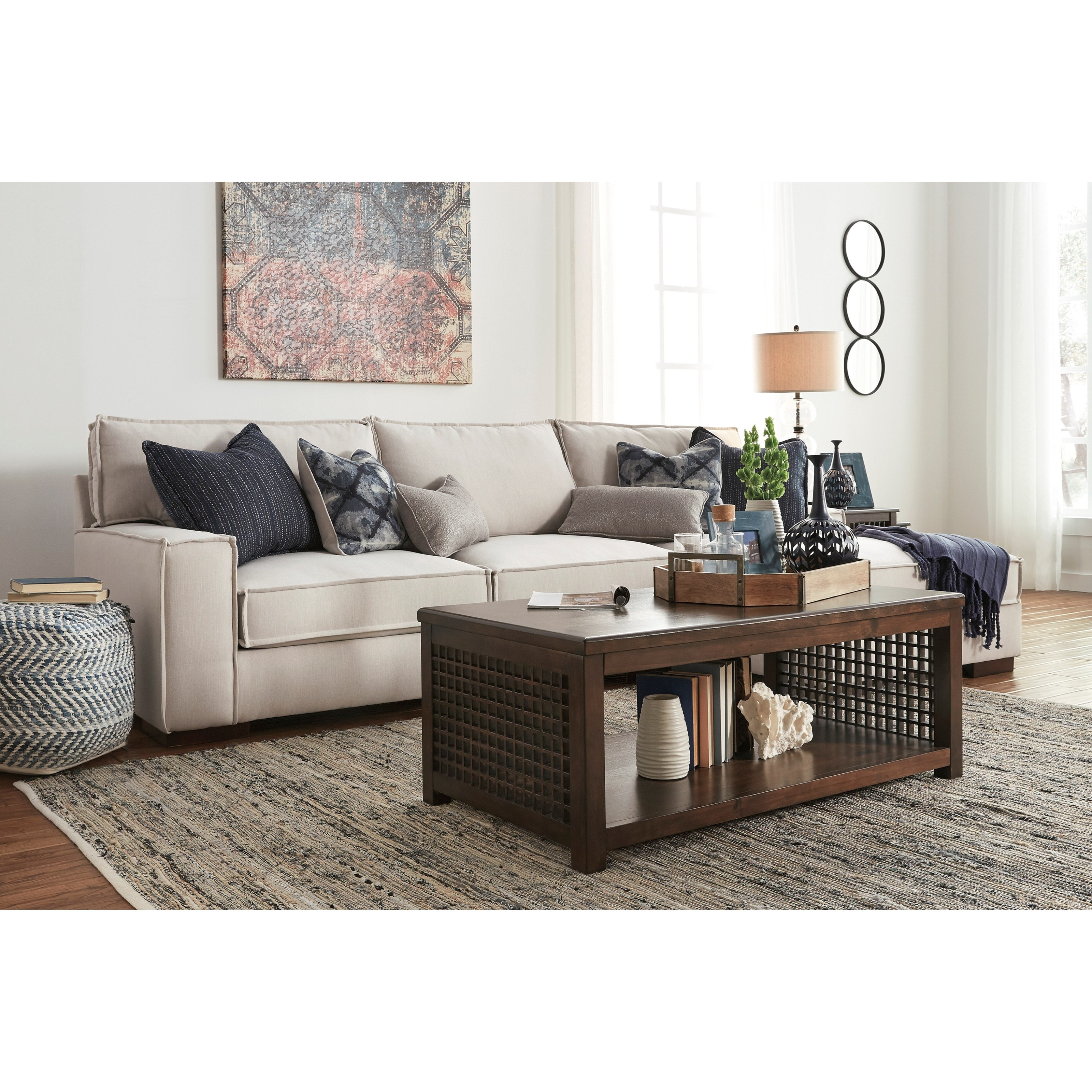Raf Chaise Laf Sofa | Baci Living Room Inside Mcdade Graphite 2 Piece Sectionals With Raf Chaise (View 10 of 25)