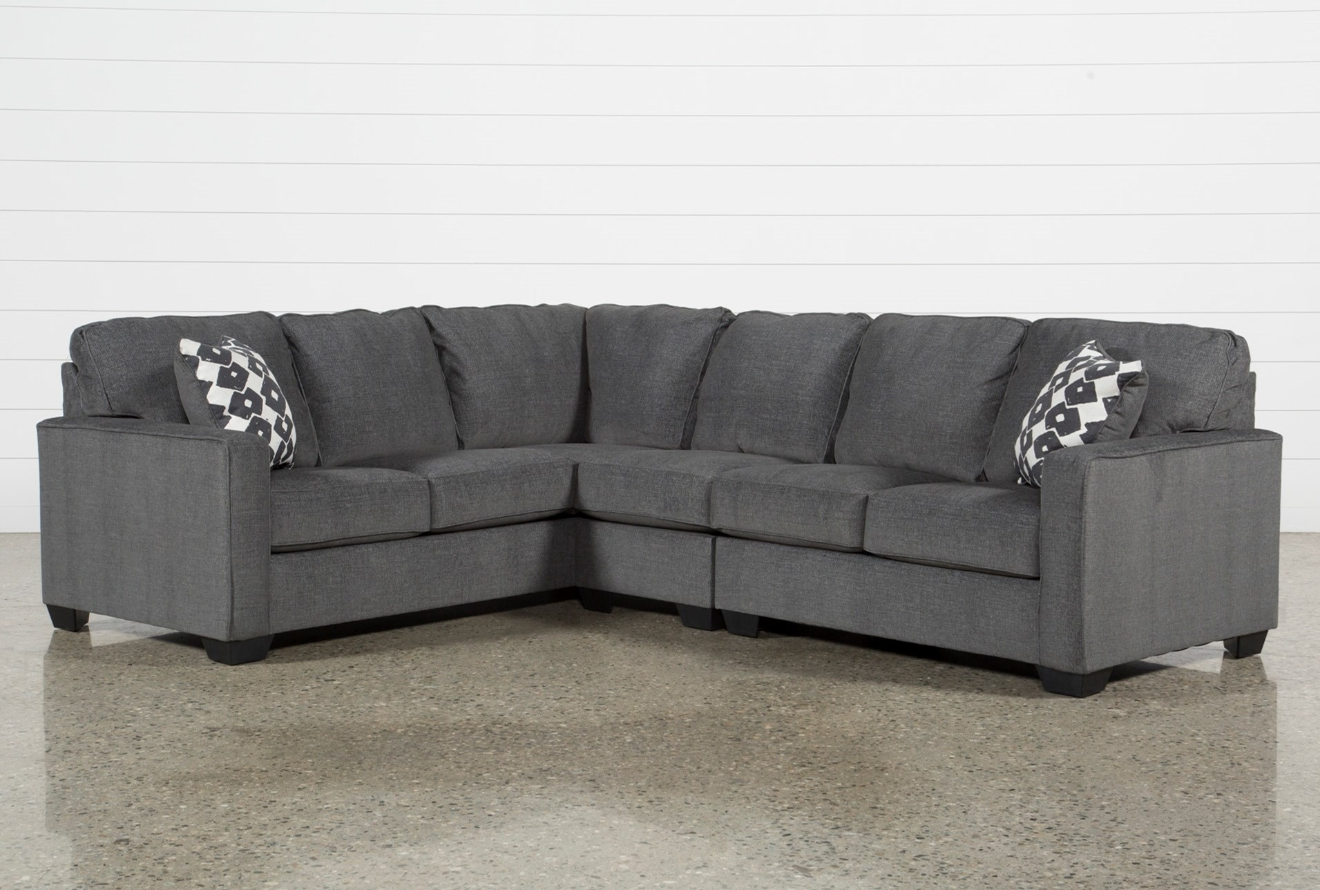 Raf Sectional Meyer 3 Piece W Chaise Living Spaces 87980 2 Jpg 1911 Regarding Meyer 3 Piece Sectionals With Laf Chaise (View 6 of 25)