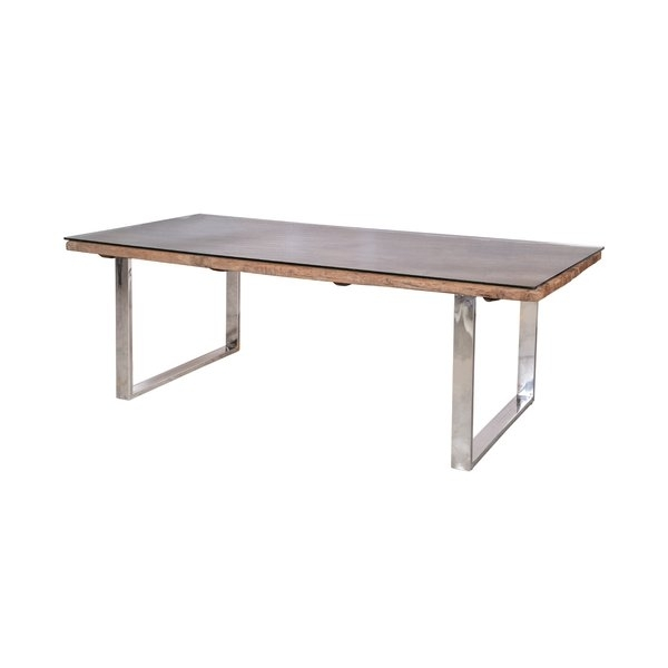 Railway Sleeper Dining Table | Wayfair.co (Image 11 of 25)