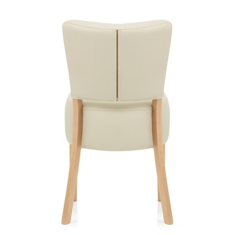 Ramsay Oak Dining Chair Cream Leather – Atlantic Shopping With Regard To Cream Leather Dining Chairs (View 7 of 25)