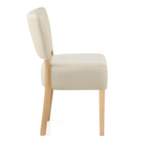 Ramsay Oak Dining Chair Cream Leather – Atlantic Shopping Within Oak Leather Dining Chairs (Image 20 of 25)
