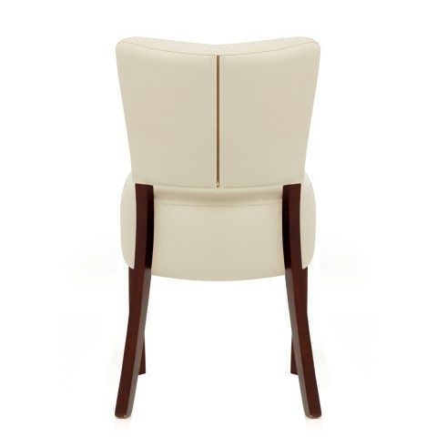 Ramsay Walnut Dining Chair Cream Leather – Atlantic Shopping For Cream Leather Dining Chairs (View 14 of 25)