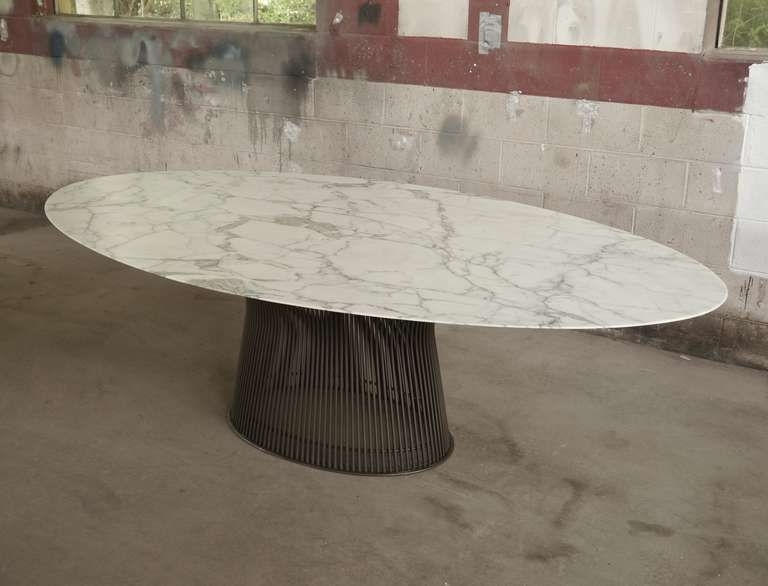 Rare Oval Dining Tablewarren Platner | Dining Tables | Pinterest Inside Oval Dining Tables For Sale (View 10 of 25)