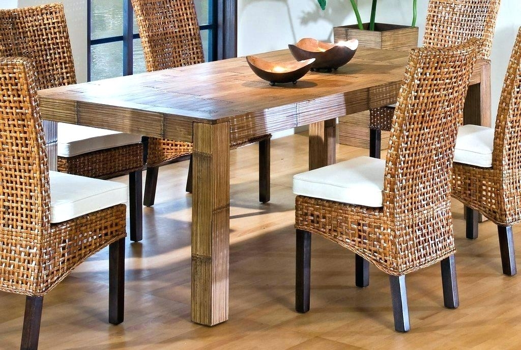 Ratan Dining Table Top Sale Modern Outdoor Rattan Dining Table And In Rattan Dining Tables (Image 17 of 25)