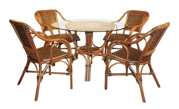 Rattan Dining Furniture: Safari Style Throughout Rattan Dining Tables (Image 18 of 25)