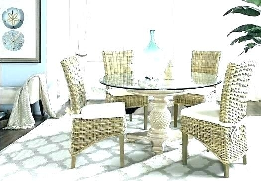Rattan Dining Room Table And Chairs Set Wicker White Cottage Cot With Rattan Dining Tables And Chairs (Image 13 of 25)