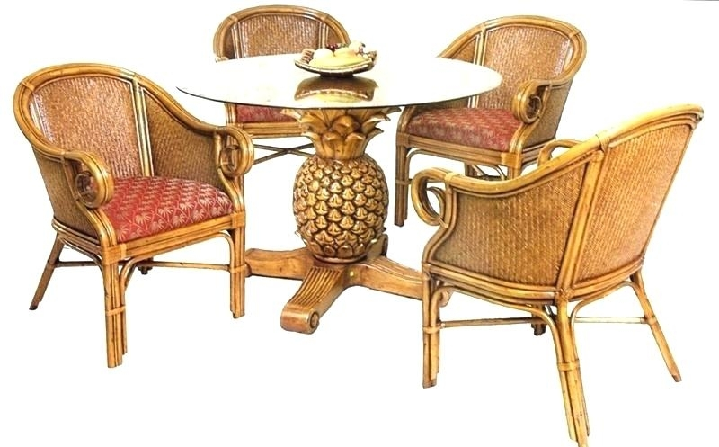 Rattan Dining Table Rattan Dining Table A Chair Set Rattan Dining Regarding Rattan Dining Tables And Chairs (Image 17 of 25)