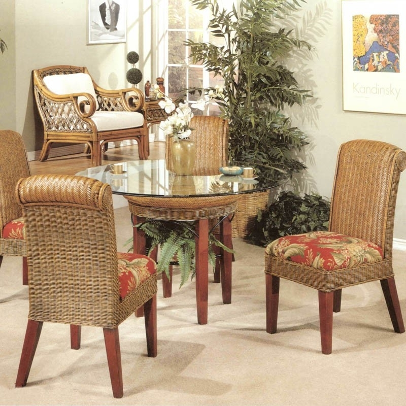 Rattan Wicker Dining Set Pertaining To Rattan Dining Tables And Chairs (Image 18 of 25)