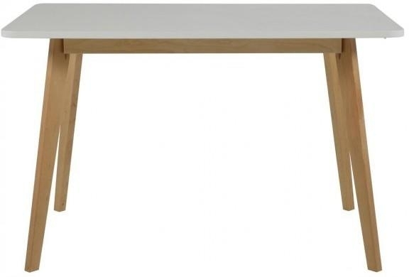 Raven Dining Table Birch Frame And White Topactona | Dining Tables With Regard To Birch Dining Tables (View 12 of 25)