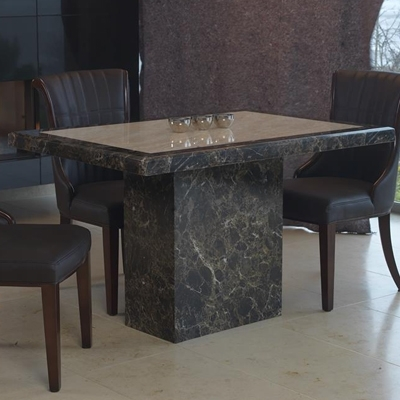Ravena Large Marble Dining Table – Robson Furniture With Small 4 Seater Dining Tables (Image 18 of 25)