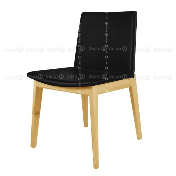 Raymond Upholstered Leather Dining Chair – Ash Legs – More Colors With Leather Dining Chairs (View 15 of 25)