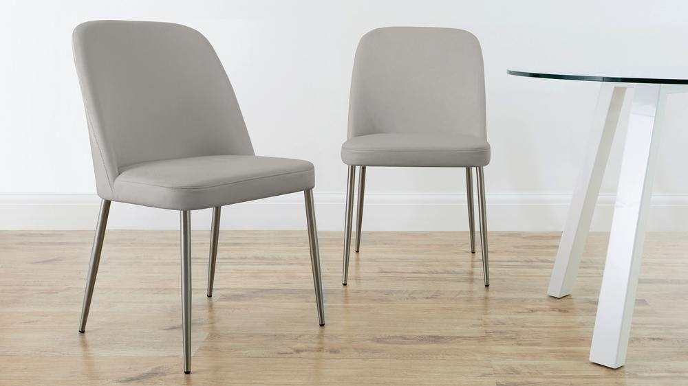 Real Leather And Stainless Steel Dining Chair | Uk Pertaining To Real Leather Dining Chairs (View 9 of 25)