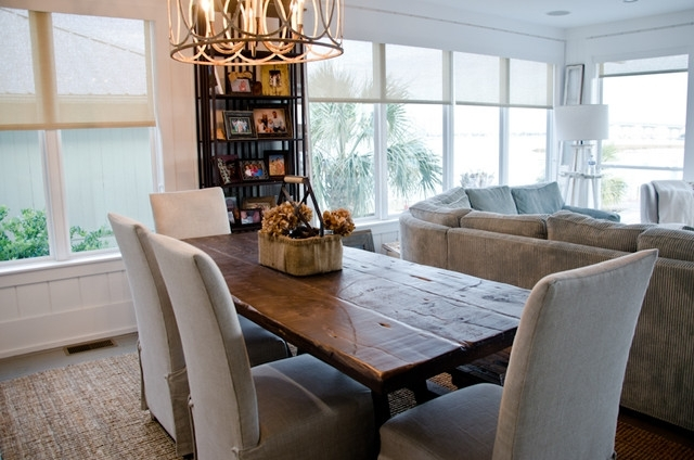 Reclaimed Dining Table/ Oba Project – Beach Style – Dining Room With Regard To Coastal Dining Tables (View 14 of 25)