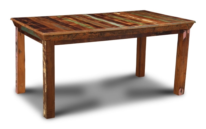Reclaimed Indian Medium Dining Table | Trade Furniture Company™ Within Indian Dining Tables (View 23 of 25)