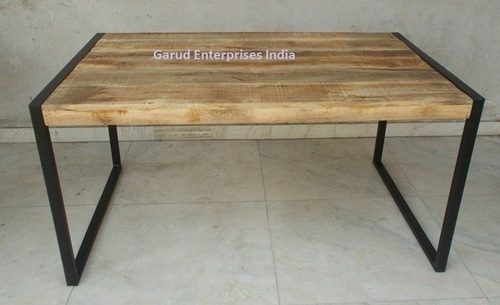 Reclaimed Mango Wood Dining Table With Metal Legs – Garud Intended For Mango Wood/iron Dining Tables (Image 14 of 25)