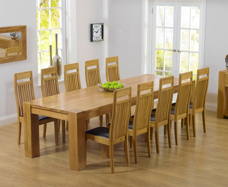 Reclaimed Wood Dining Table And Chairs Home Gallery Oak Dining Within 8 Chairs Dining Tables (Image 17 of 25)