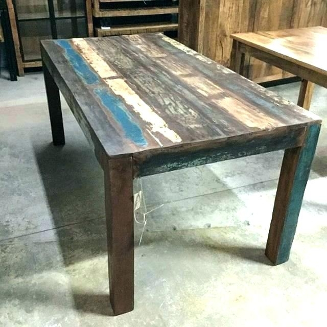 Reclaimed Wood Dining Table For Sale Round Reclaimed Dining Table Pertaining To Cheap Reclaimed Wood Dining Tables (View 16 of 25)