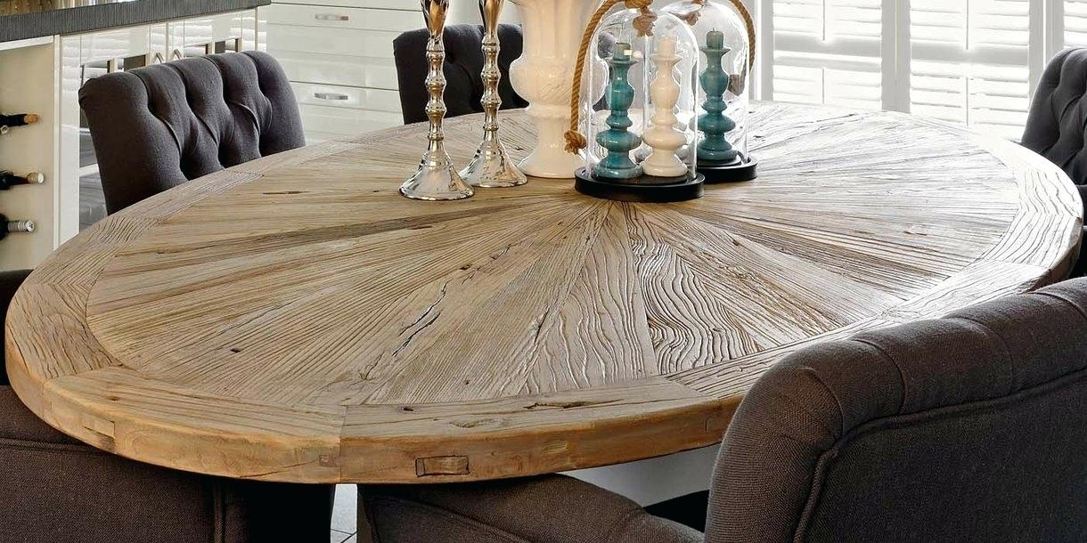 Featured Image of Oval Reclaimed Wood Dining Tables