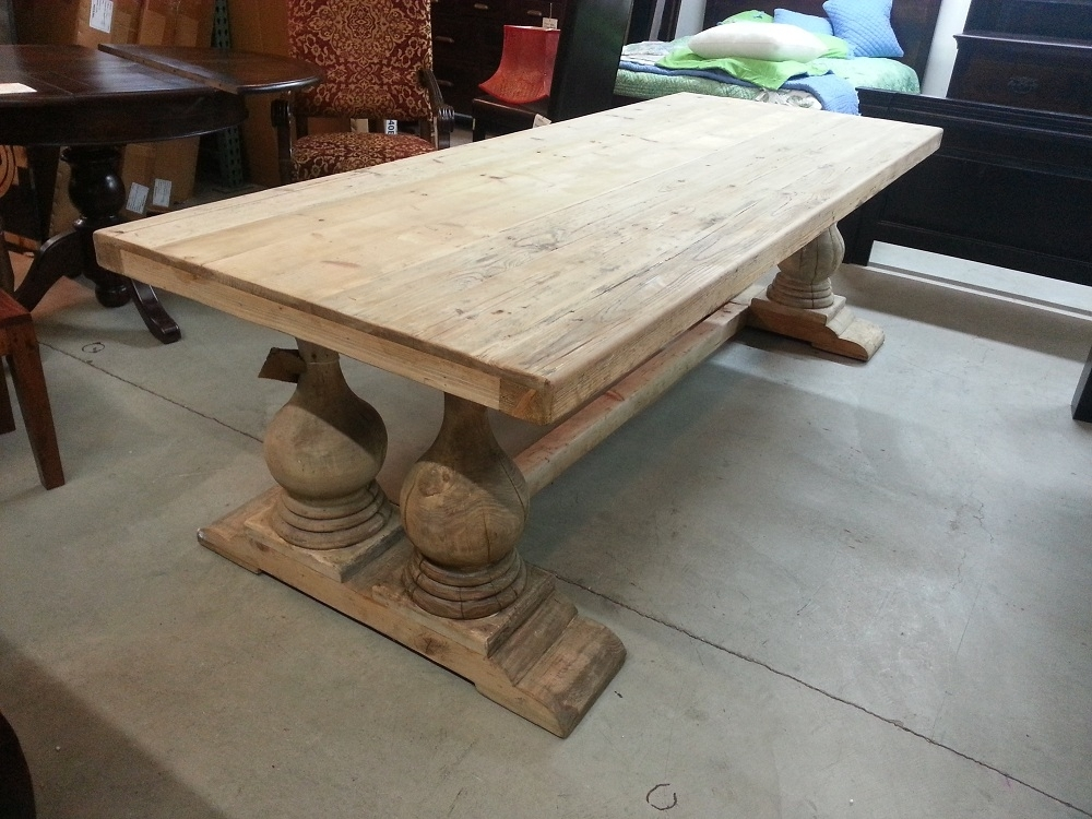 Reclaimed Wood Unfinished Dining Table — Home Ideas Collection : To With Regard To Cheap Reclaimed Wood Dining Tables (Image 22 of 25)