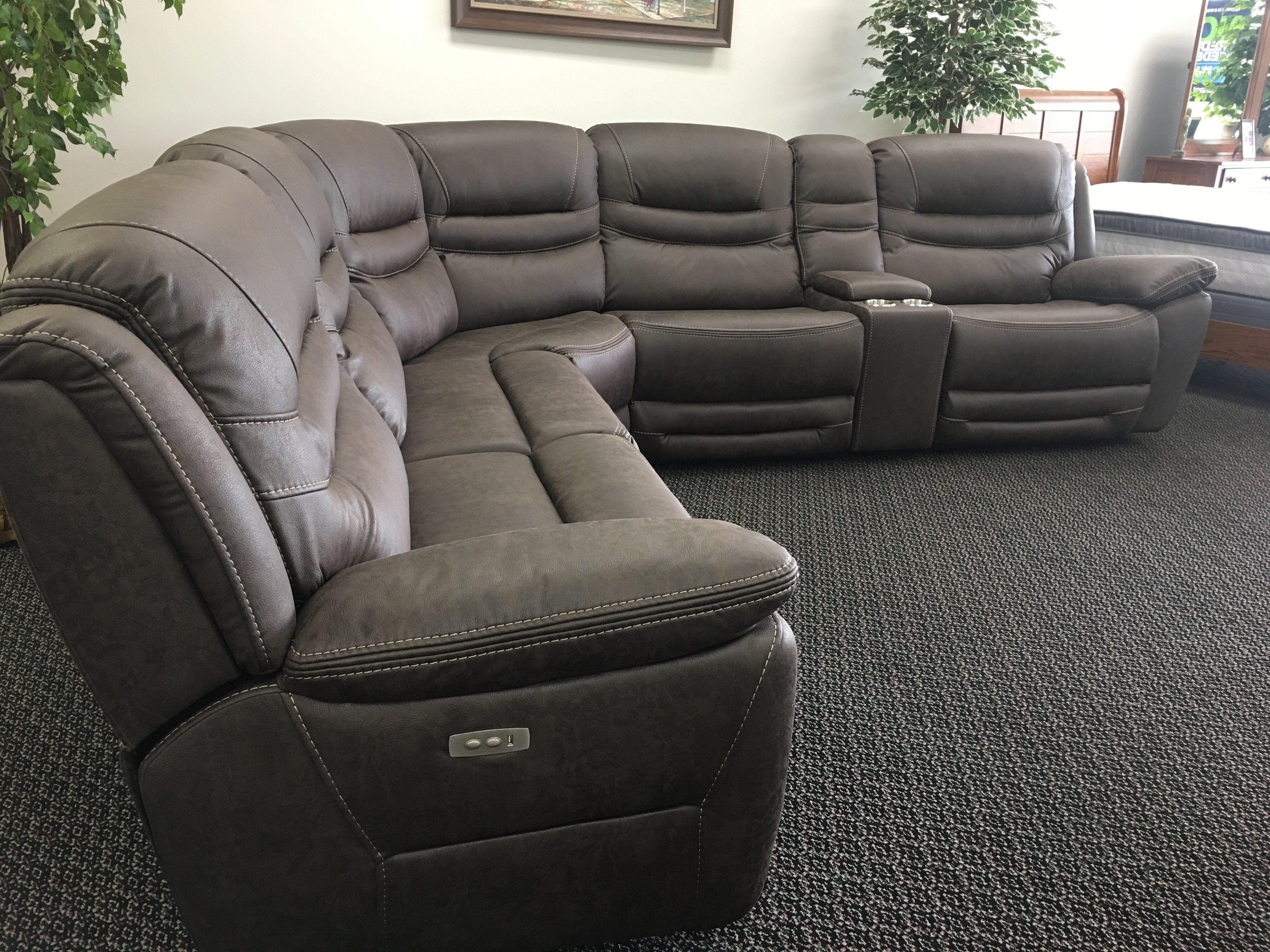 Recliner Sectional – Locsbyhelenelorasa Within Denali Light Grey 6 Piece Reclining Sectionals With 2 Power Headrests (Image 20 of 25)