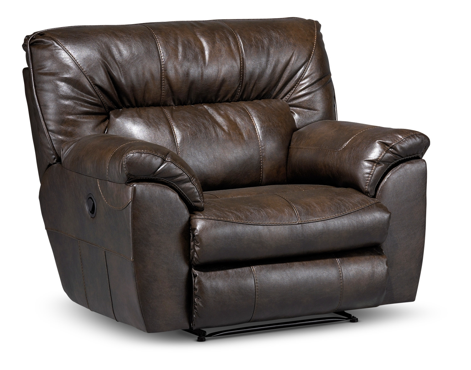 Recliners – Leather, Rocker & Swivel – Hom Furniture In Travis Dk Grey Leather 6 Piece Power Reclining Sectionals With Power Headrest & Usb (Image 16 of 25)