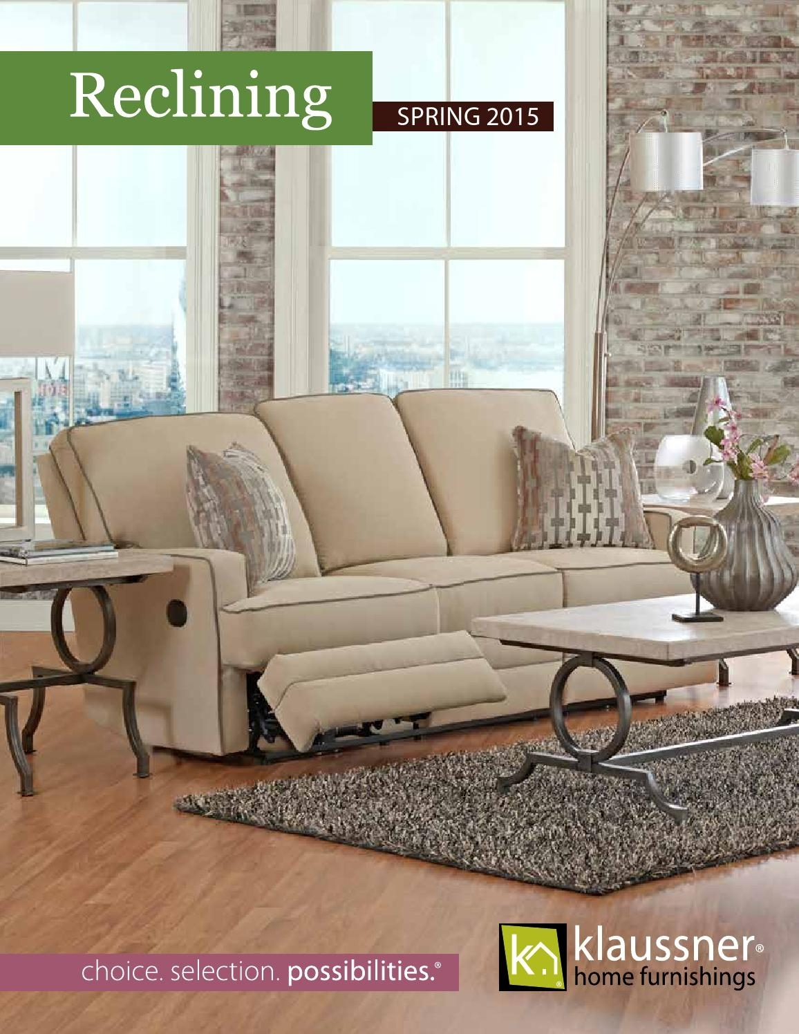 Reclining 2015 Catalogklaussner Home Furnishings – Issuu With Regard To Travis Cognac Leather 6 Piece Power Reclining Sectionals With Power Headrest & Usb (Image 22 of 25)