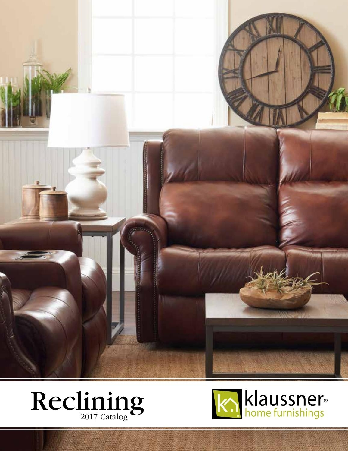 Reclining 2017 Catalog October2017Klaussner Home Furnishings – Issuu With Marcus Chocolate 6 Piece Sectionals With Power Headrest And Usb (View 19 of 25)